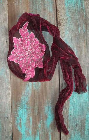 Cowgirl Flower Headwrap - Elusive Cowgirl Boutique