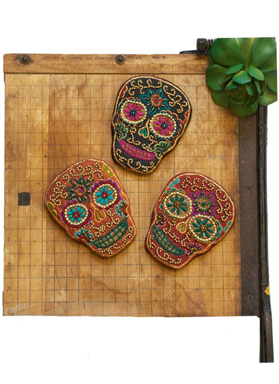 Cowgirl Beaded Skull Mirror - Elusive Cowgirl Boutique