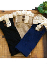 Boot Cuffs - Wooden Button - Elusive Cowgirl Boutique