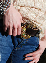 """Vintage Cowgirl Belt & Buckle - Small"" - Elusive Cowgirl Boutique"