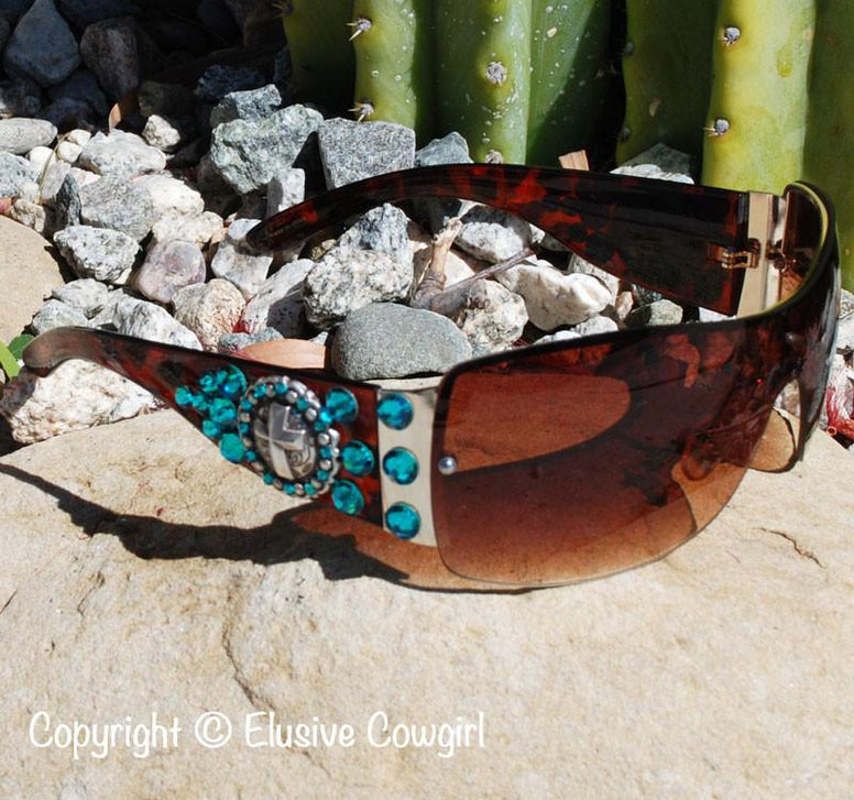 Cross Concho Sunglasses - Elusive Cowgirl Boutique
