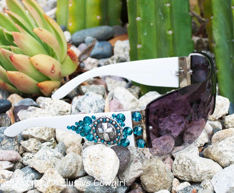 Limited Editon White Sunglasses - Elusive Cowgirl Boutique