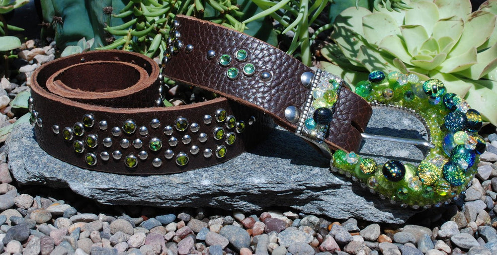 Western Green Buckle & Belt - Small