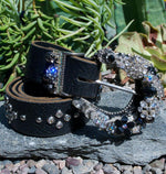 """Vintage Black Buckle & Belt - Small"" - Elusive Cowgirl Boutique"