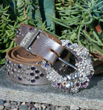 """Vintage Purple Cowgirl Belt & Buckle"" - Elusive Cowgirl Boutique"