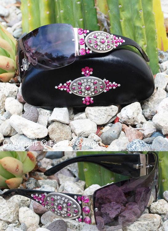 sassy cowgirl sunglasses that will make you shine with swarovski crystals flower metal concho and rhinestones