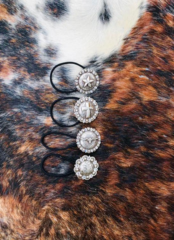 Concho Hair Ties - Elusive Cowgirl Boutique