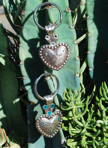 Concho Heart Keychain - Elusive Cowgirl Boutique