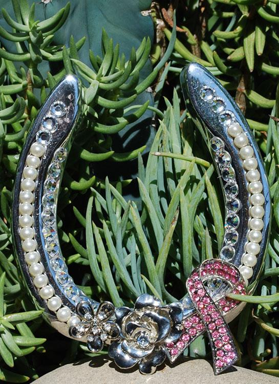 Pink Ribbon Support Horseshoe