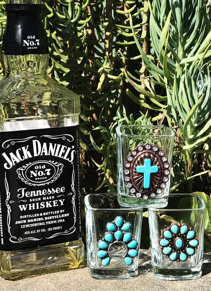 Bottoms Up Whiskey Shot Glasses - Elusive Cowgirl Boutique