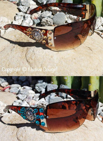 """Concho Star Sunglasses"" - Elusive Cowgirl Boutique"