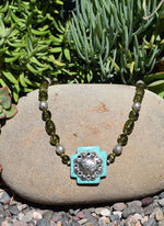 Necklace- Turquoise Cross - Elusive Cowgirl Boutique