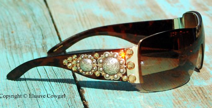"""Double Concho Sunglasses"" - Elusive Cowgirl Boutique"