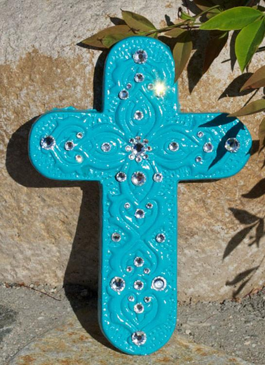Wall Decor - Teal Cross - Elusive Cowgirl Boutique