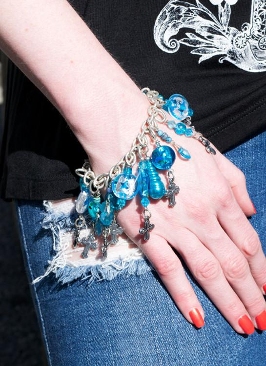 """Cross Charm Bracelet"" - Elusive Cowgirl Boutique"