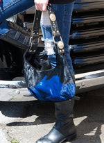 Blue & Black Cowhide Purse - Elusive Cowgirl Boutique