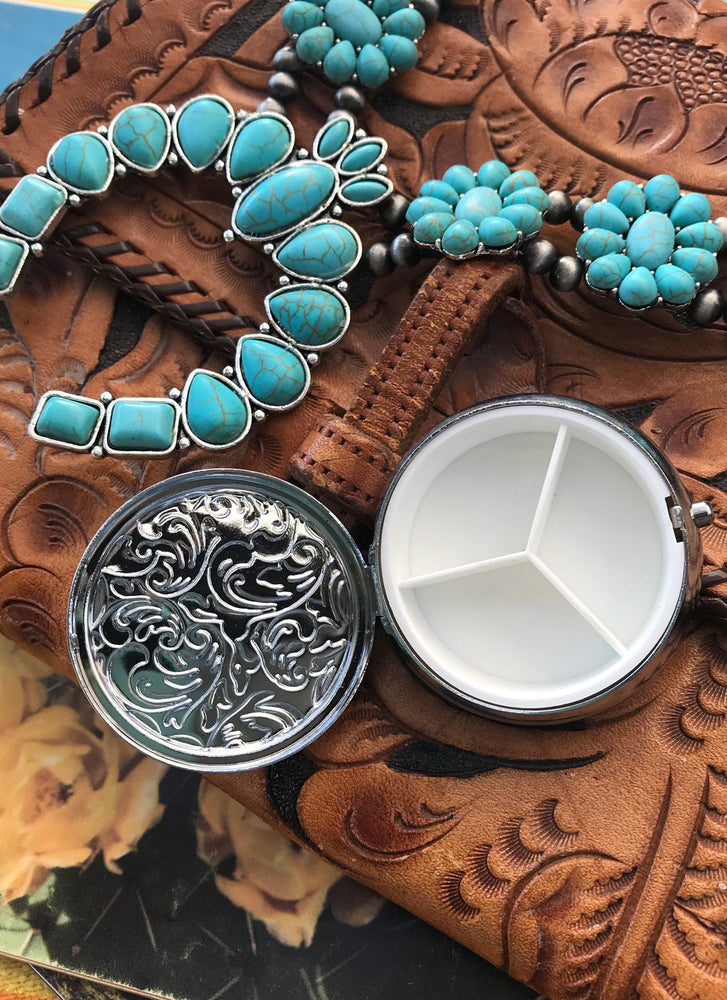 Pill Box- Cross - Elusive Cowgirl Boutique