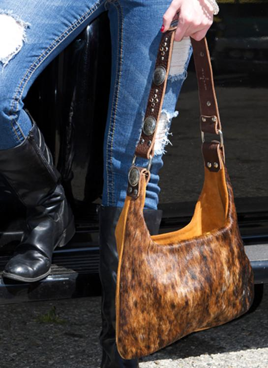 Brindle Cowhide Purse - Elusive Cowgirl Boutique