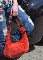 Western Suede Purse - Elusive Cowgirl Boutique