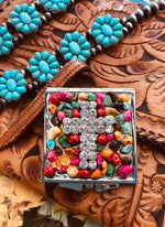 Mirror - Rhinestone Cross