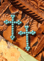 Crystal Cross Earrings - Elusive Cowgirl Boutique