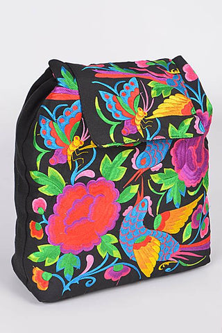 Embroidered Gypsy Backpack - Elusive Cowgirl Boutique
