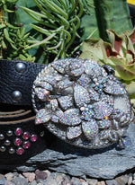 Rhinestone Flower Buckle & Belt - Small