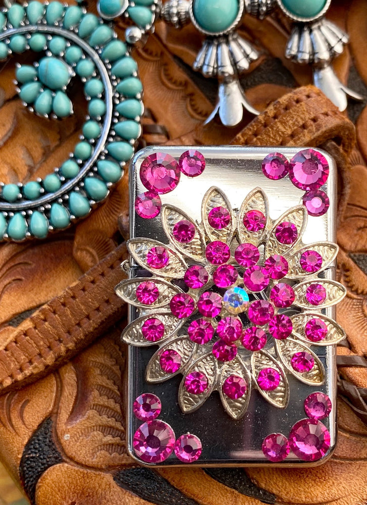 Lighter - Rhinestone Flower - Elusive Cowgirl Boutique