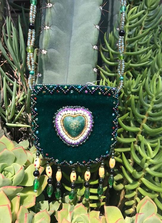 Beaded Heart Purse - Elusive Cowgirl Boutique
