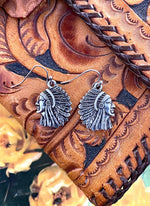 Elegant Indian Head Earrings - Elusive Cowgirl Boutique
