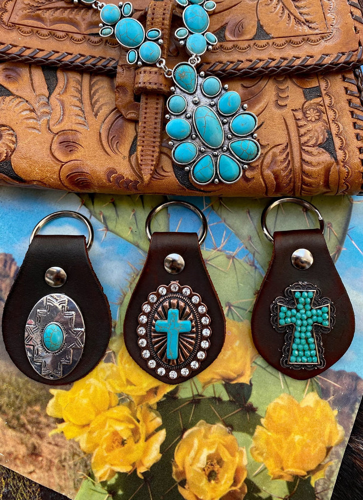 Cowgirl Leather Key Fobs