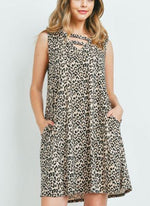 Leopard V Neck Dress