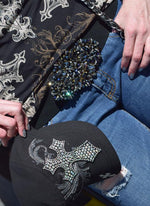 """Rhinstone Snap Belt Beaded"" - Elusive Cowgirl Boutique"