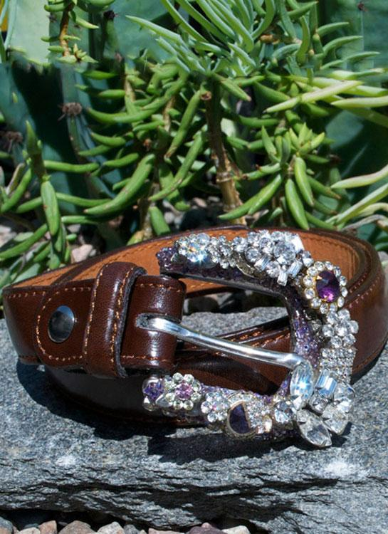 Vintage Mini Rhinestone Buckle & Belt