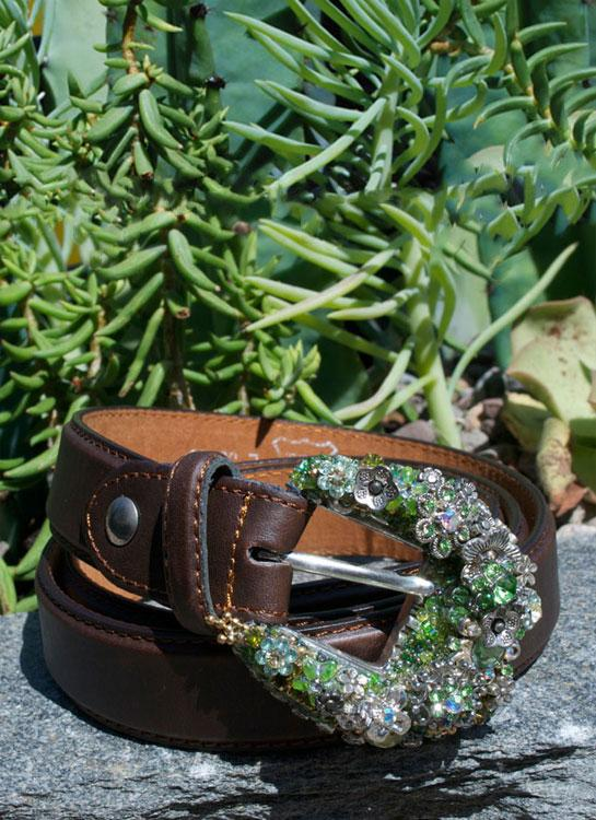 Vintage Mini Cowgirl Buckle & Belt
