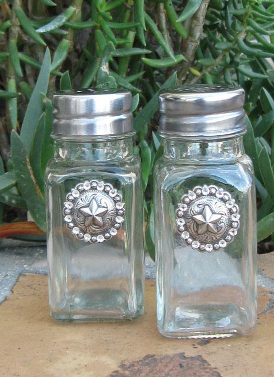 Salt & Pepper Shakers - Texas Star - Elusive Cowgirl Boutique