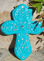 Wall Decor - Teal Cross