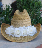 Flower Cowgirl Hat - Elusive Cowgirl Boutique