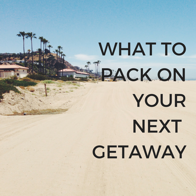 Essentials to Pack for a Weekend Getaway