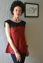 Houndstooth Cat Blouse