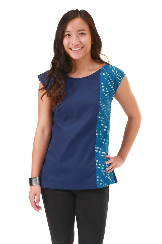 Julia Blue Dot Blouse