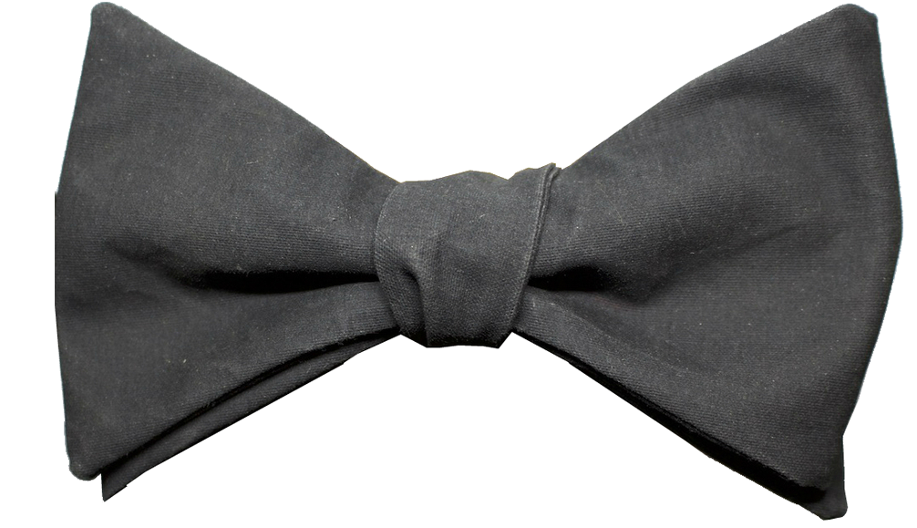 glass & bow black bow tie the brunel
