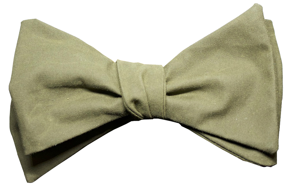glass & bow khaki bow tie the hawking