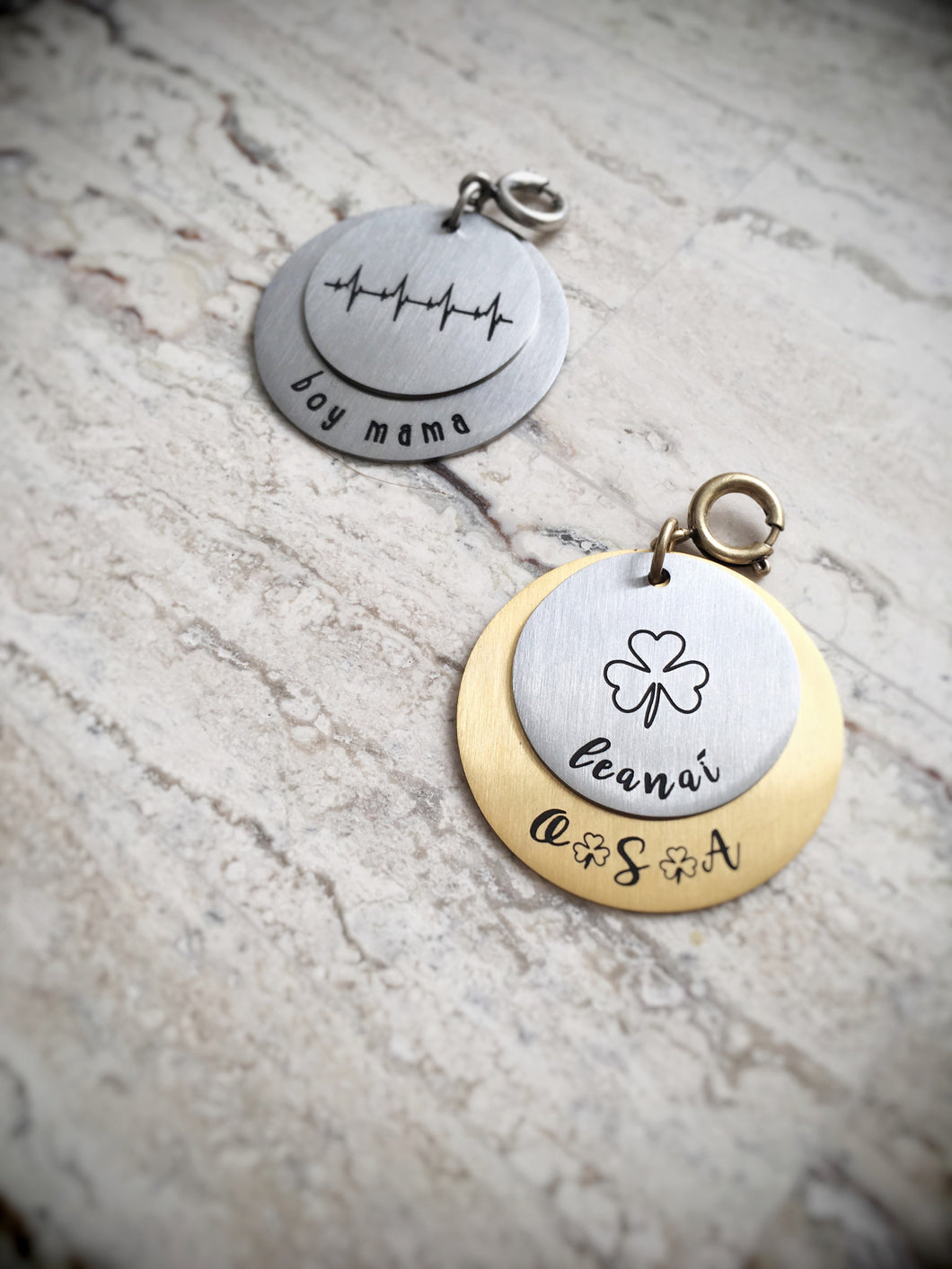 Personalized 2-Coin Charm