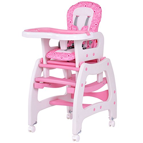 3 In 1 Baby High Chair Convertible Play Table Seat Booster Toddler Feeding  Tray + FREE E   Book