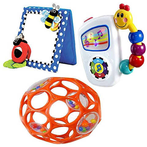 Beautiful Babyhaven Bundle: Baby Floor Mirror With Take Along Tunes Musical Toy U0026  Infant Rattle