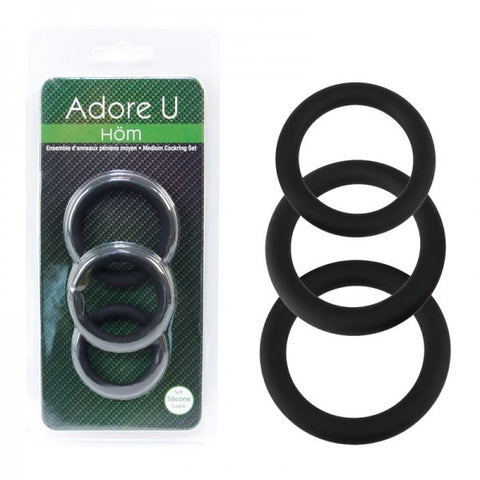 Adore U Medium Cock Ring Set