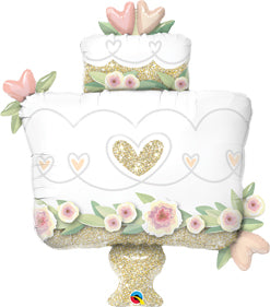 Flowers and Gold Wedding Cake 41