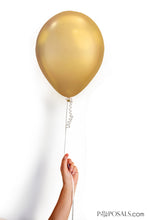 "Gold Chrome 11"" Latex Balloon 10 - Pack"