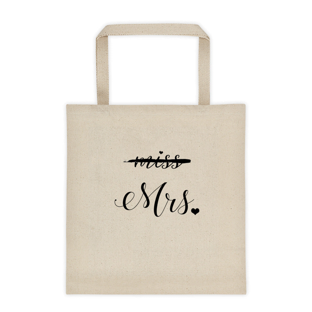Miss Mrs Engagement Tote bag